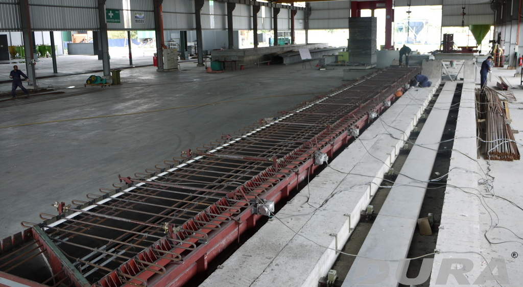 Mould preparation for DURA TBG875-20m.