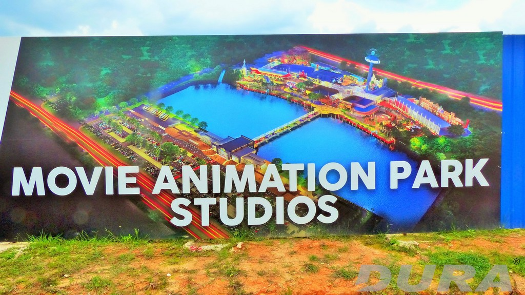 Illustration of completed animation theme park studio.
