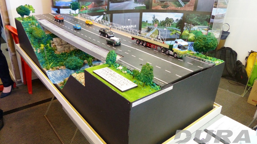 Bridge model for Rantau-Siliau bridge.