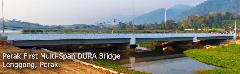 Perak First Multi-Span DURA Bridge, Lenggong, Perak