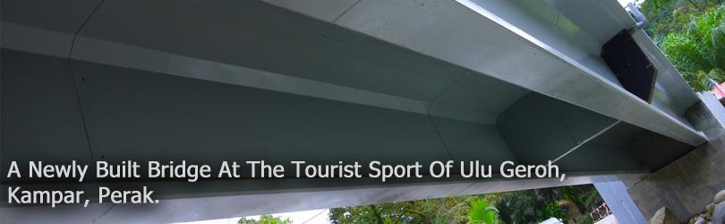 A Newly Built Bridge At The Tourist Sport Of Ulu Geroh, Kampar, Perak.